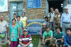 The-team-of-PEEDA-and-CEEN-at-Jatropha-seed-collection-and-expelling-center-in-Manebhanjyang-VDC-of-Okhaldhunga-district