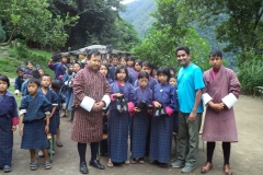 Distribution-of-shoes-to-the-students-of-local-school-in-Bhutan