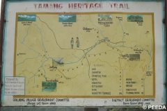 Map of Tamang Heritage trail in Rasuwa.
