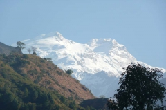 The Manasalu Himalaya as seen from the project area.