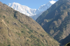 The Annapurna Himalaya as seen from the project area.